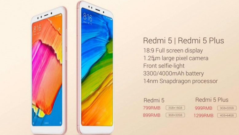 Redmi Note 5 series
